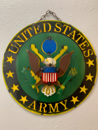 3D Metal US Army Sign