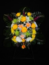 Tribute- Standing Spray  3D Floral Design