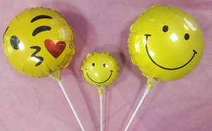 "4"" & 9"" Smiley Face Balloon Stick-in Add-On in Croton On Hudson, NY 