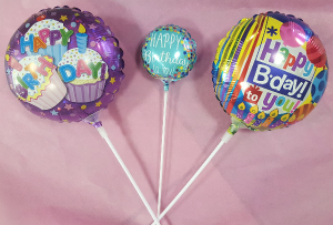 "4"" & 9"" Birthday Balloon Stick-in Add-On in Croton On Hudson, NY 