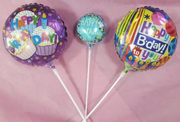"4"" & 9"" Birthday Balloon Stick-in Add-On"
