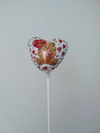 "I love you! 4""  foil balloon"