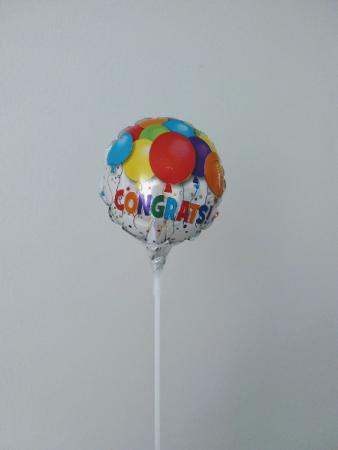 """Congrats! 4"""" foil balloon"""