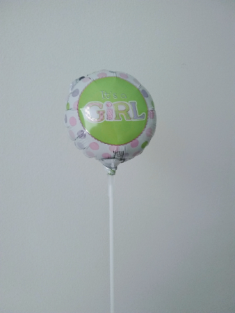 "It's a girl! 4"" foil balloon"