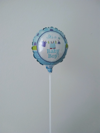 "It's a boy! 4"" foil balloon"