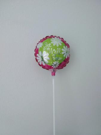 """4"""" aluminum foil balloon Get Well Soon!"""