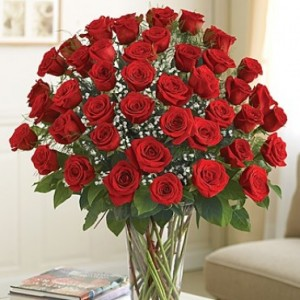 4 Dozen Longstem Red Roses Deluxe Rose Arrangement
