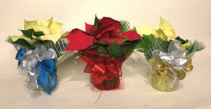 4'' Dressed Poinsettia Plant Christmas Planter