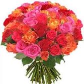 4 dx rose bouquet wrapped colors