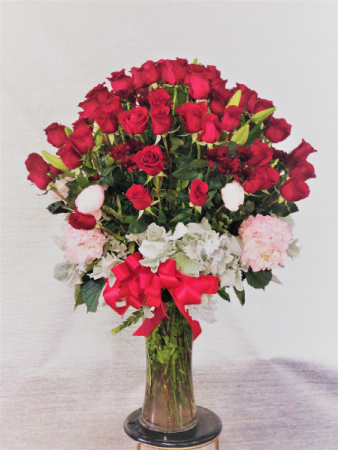 4 dz roses with mix flowers