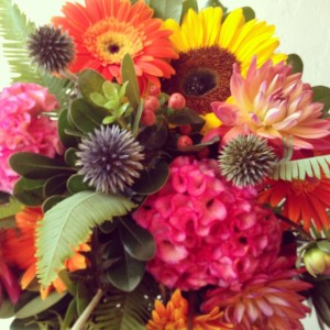 Vibrant Autumn Handtied Bouquet  in Toronto, ON | BOTANY FLORAL STUDIO