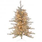 4' Lighted Tinsel Tree