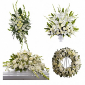 SERENITY 4 PC FAMILY WHITE FUNERAL PACKAGE SPECIAL!! PAY FOR 3 ITEMS AND GET THE 4TH PC FREE