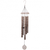 "40"" In God's Hands White Vintage Windchimes"