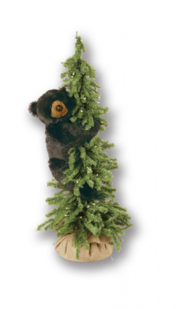 "40"" PreLit  Artificial Bear Tree"