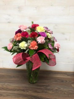 40th Anniversary Bouquet  40 colourful carnations