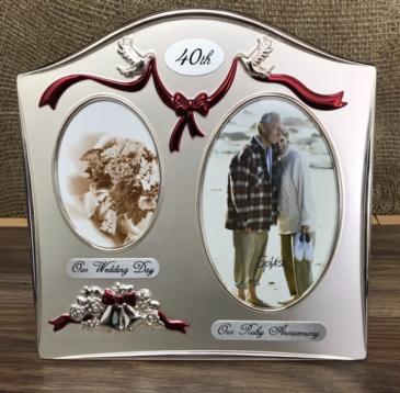 40th anniversary frame  Anniversary gift