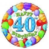 40th Birthday Mylar Balloon Mylar Balloon