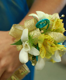 Yellow & Gold Prom Corsage Prom Flowers