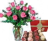Sweet Pink Roses & Chocolates