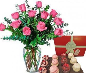 Sweet Pink Roses & Chocolates