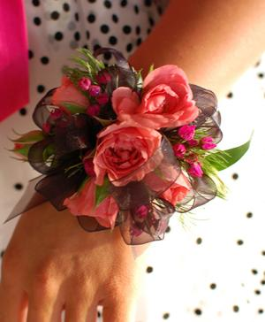 Pink Roses Prom Corsage Prom Flowers in Bowerston, OH | LADY OF THE LAKE FLORAL & GIFTS