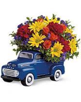 '48 Ford Pickup Bouquet Birthday  in Punta Gorda, Florida | CHARLOTTE COUNTY FLOWERS