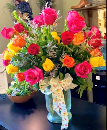 48 Mixed Rose Love Bouquet Rose Arrangement