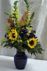 Sunflower Gala  Vase Arrangement