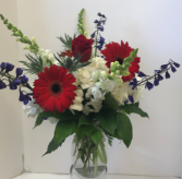 4th of July Burst Vase Arrangement