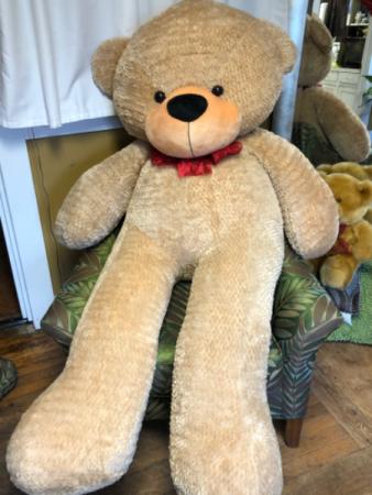 5' tall jumbo teddy bear  ONLY ONE LEFT!!!!!