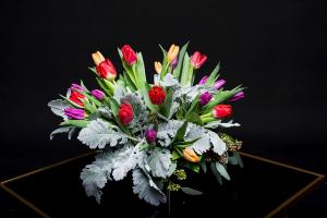 I Love Tulips Vase Arrangement  in Irving, TX | Flowers of Las Colinas