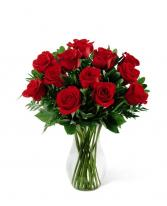 50 cm Long Stemmed Red Roses Vased Arrangement