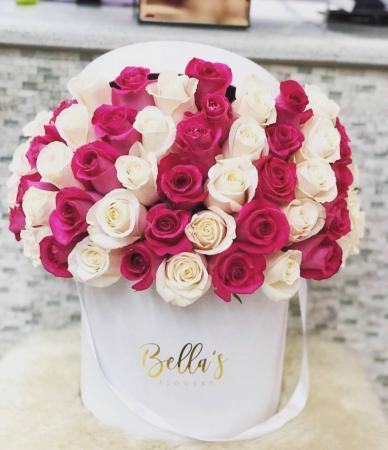 50 Lavender & White Roses
