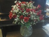 50 LONG STEM ROSES Arranged PICK YOUR COLOR!