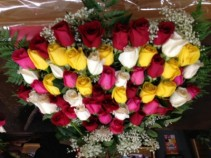 50 MIXED ROSE ARRANGEMENT Presentation style, pure luxury.