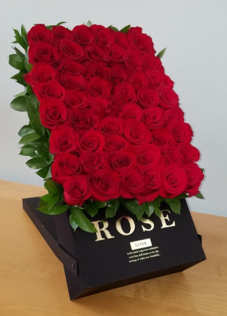 50 Roses Deluxe Box Box