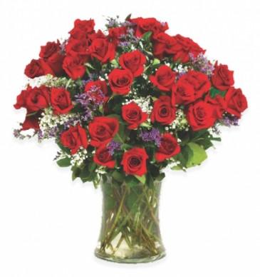 50 Roses Vase Arrangement