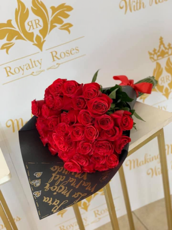 50 Roses wrapped wrapped bouquet 50