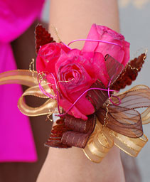 Hot Pink Roses Prom Corsage Prom Flowers