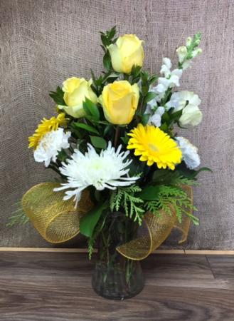 50th anniversary arrangement Fresh flower arrangement
