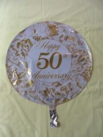 50th Anniversary Balloon Mylar Balloon