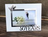 50th anniversary frame Anniversary gift