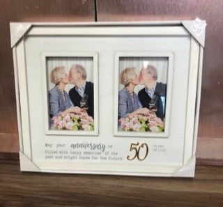Anniversary Frame 50th, 25th Engravable with names and date