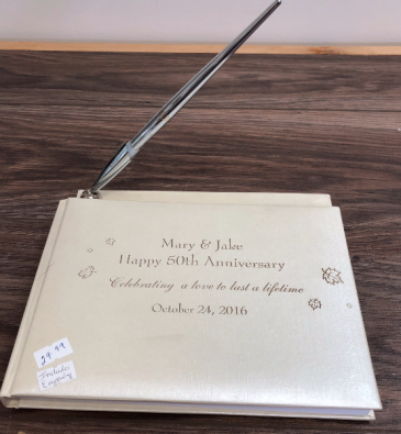 50th Anniversary Personalized Guest Book. 25th, 40th or 50th  Anniversary