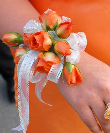 Orange Roses Prom Corsage Prom Flowers