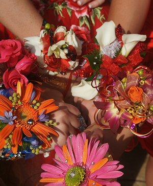 Array of Prom Corsages Prom Flowers in Anderson, SC | NATURE'S CORNER FLORIST