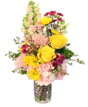 Touches of Light Vase Arrangement  in Brentwood Bay, BC | PETALS N BUDS BRENTWOOD BAY FLORIST
