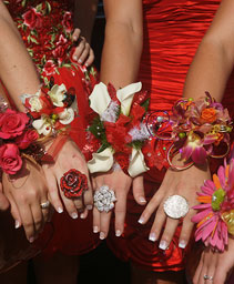 Array of Prom Corsages Prom Flowers