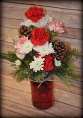 6.5 inch Mason Jar - Christmas